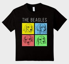 """""""The Beagles"""" Stylized T-shirt       >>>> Check this out   http://amzn.to/2bxZhoZ"""