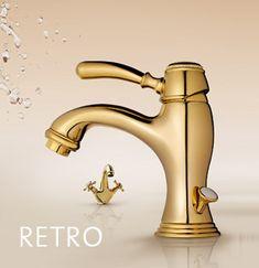 Die Wiederentdeckung einer Epoche: Die Kollektion RETRO ist eine Hommage an den Stil der 20er Jahre. Klassische Hebel- und Kreuzgriffe runden das einprägsame Design ab. Formvollendet und elegant in der Formsprache, vereint die Kollektion klassische und moderne Attribute und eröffnet neue Perspektiven.