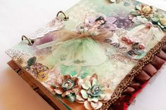 Original pinner sez: Dance book - In a Scrap of Paper I love this - every single thing about it! Altered Canvas, Altered Book Art, Book Crafts, Arts And Crafts, Paper Crafts, Fabric Journals, Art Journals, Dance Books, Fabric Art