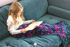 Never mind the kids...I want to be a Mermaid!  Mermaid Me Blanket -- Crochet Pattern