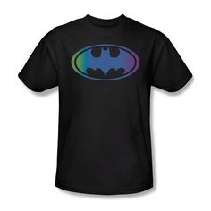 Batman Hologram Bat Shield Logo Youth Ladies Jr V-Neck Men L/S Tank Top T-shirt