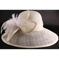 Chapeau De Mariée Elna En Sisal Ecru