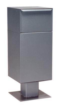 Gray Deposit Vault with Pedestal – Storage – Ansicht Mail Drop Box, Parcel Drop Box, Concrete Pad, Mix Concrete, Drop Box Ideas, Concrete Anchors, False Bottom, Box End Wrench, Electric Gates