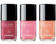 New spring nail colors for the month of April, May and June!