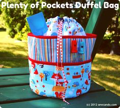Plenty of Pockets Duffel Bag - Free downloadable pattern & instructions by Sew Can Do
