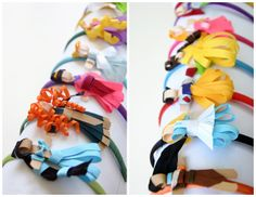 DIY: Disney Princess Inspired Ribbon Would take sometime but perfect for crafty Tuesday!