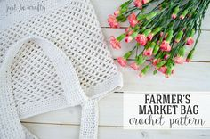 Hi there!  I'm happy to share a brand new crochet pattern with you today – The Farmer's Market Bag!  This pattern has been in my brain for a little while now, but I finally brought it to life by crocheting it up this past weekend. The bag features a square shape, long handles, a solid bottom, and mesh …