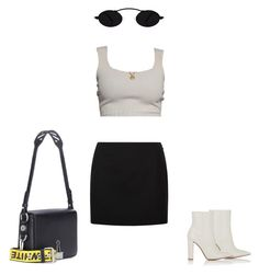 """""""Untitled #1045"""" by galaxyboms ❤ liked on Polyvore featuring La Perla, Gianvito Rossi and Off-White"""