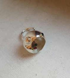 """""""Cherry"""" ring by Andreia Popescu Contemporary jewelry application for Taboo Exhibition 2014 Event Organization, Two By Two, Gemstone Rings, Stud Earrings, Contemporary, Cherry, Gallery, Jewelry, Earrings"""