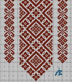 Tina's handicraft : 148 different designs for woven, knitted, crochet and embroidery Cross Stitch Borders, Cross Stitch Charts, Cross Stitch Designs, Cross Stitching, Cross Stitch Patterns, Folk Embroidery, Cross Stitch Embroidery, Embroidery Patterns, Motifs Blackwork