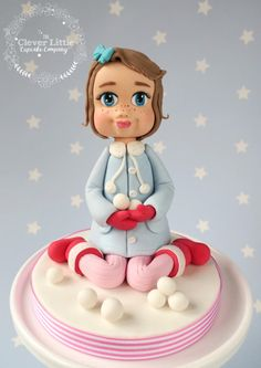 Snow Girl Cake Topper by The Clever Little Cupcake Company