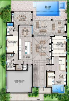 Modern House Floor Plans, Pool House Plans, Sims House Plans, Pole Barn House Plans, Home Design Floor Plans, Best House Plans, Architectural Design House Plans, Home Room Design, Dream House Plans