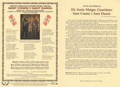 Goigs nº 115 - Cosme i Damià - BCN - 2009