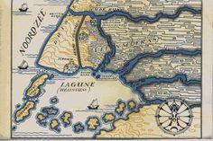 Er was eens.... rond de 11e eeuw De Rijnmonden, zoals ze waren toen de Romeinen ons land binnenvielen. Het riviertje naar het noorden is de Rotte. Links onderaan de Rotte: de plaat Roode Zand.  Het afgebeelde oord 'Helinium ' was een zeeboezem waar gedurende de Middeleeuwen Rotterdam ontstond, die ongeveer ter plaatse, waar de Rotte naartoe stroomde, Meerweide heette.