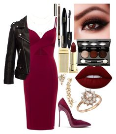 """Untitled #276"" by kerrbee9101 on Polyvore featuring Casadei, Anine Bing, Lancôme, Lime Crime, Lipstick Queen, Vincent Longo, Marchesa, Clarins and Bloomingdale's"