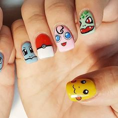 Pokémon GO Inspired Nails !!!