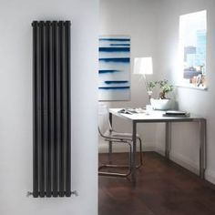 For A Really Striking Look, Choose A Radiator With A High Gloss Finish,  Like The Milano Aruba Vertical Designer Radiator X (Double Panel) In  High Gloss ...