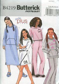 utterick 4219 Girls Hoody Dress Top Pants 2004