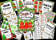 Jingle All The Way~ Christmas Literacy Centers--Perfect for 1st and 2nd!!!  Love this from The Bubbly Blonde!