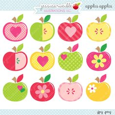 Apples Apples - 12 different apples for your craft and creative projects.