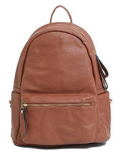 New Trending Backpacks: Big Handbag Shop Unisex Faux Leather Medium Size Backpack Rucksack Shoulder Bag (Design 1 - Tan). Big Handbag Shop Unisex Faux Leather Medium Size Backpack Rucksack Shoulder Bag (Design 1 – Tan)  Special Offer: $32.99  199 Reviews Big Handbag Shop unisex faux leather medium size designer inspired top zip opening backpack rucksack shoulder bag with a front and a back zip...