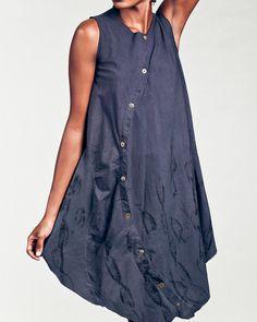 Uye Surana | printed circular placket dress.via Etsy.