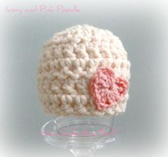 Valentines Day Baby Hat  Heart Crochet Baby Hat by HowCuteAreYou, $19.50