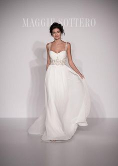 Maggie Sottero empire-waist wedding dress
