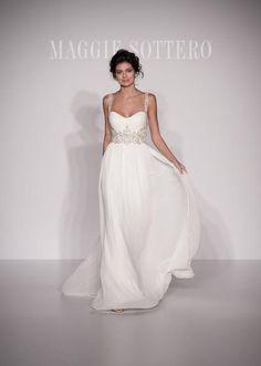 Maggie Sottero empire-waist wedding dress