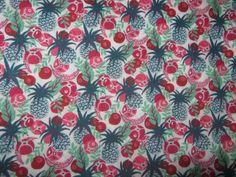 Liberty Tana Lawn  cotton Ibiza Berry {kitsch pineapples