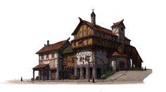 port city house, dongjin lee on ArtStation at https://www.artstation.com/artwork/LBnvR