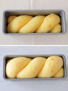 """オレンジブレッド - はじめてでも簡単♪あいりおーの""""毎日つくりたくなる""""おうちパン レシピブログ -料理ブログのレシピ満載!꒡̈⃝ 215×87×60mmパウンド型1個分 パン生地材料 ・強力粉・・・200g ・砂糖・・・20g ・塩・・・3.6g ・スキムミルク・・・6g ・インスタントドライイースト(耐糖性)・・・3g ・卵黄・・・1個(18g程度) ・オレンジジュース・・・110g ・バター・・・20g ・オレンジピール・・・50g"""