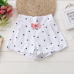 Child New Girl Heart Prince Shorts Summer Girls Shorts White Outfits, Girl Outfits, Short Dresses, Girls Dresses, Pink Kids, Kids Store, Baby Size, Summer Shorts, Spring Collection