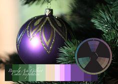 Color Inspiration - Purple Ornament, color wheel, color palette