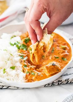 This Instant Pot Chicken Tikka Masala is one hundred percent made from scratch, super flavorful, tender chicken, delicious curry and always a family favorite! #chickentikkamasala #instantpot