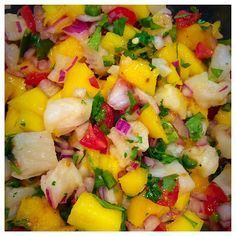 White Fish Ceviche with mango and peppers