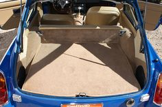The backrest of the back seat folds forward to lengthen the cargo shelf.