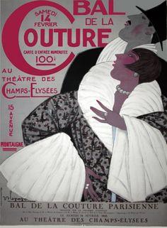 Bal de la Couture 1925 Théâtre des Champs-Elysées, Paris. Georges Lepape (1887-1971)