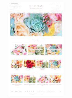 Bloom is an ecommerce and portfolio theme with a soft, feminine style, also suitable for wedding and craft sites.