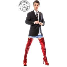 Check Out Brendon Urie in His Kinky Boots Costume — Underwear, Thigh-High Stilettos and All! featuring polyvore