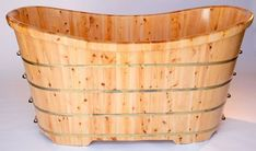 "ALFI Brand AB1105 63"" Cedar Soaking Bathtub for Freestanding Installations with Natural Wood Tub Soaking Freestanding"