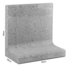 L-element Grijs 50x30x50 cm