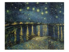 """Starry Night Over the Rhone,"" exemplifies the artistic genius of Dutch Grand Master Vincent Van Gogh (1853 – 1890) through its dramatic expression capturing the nighttime nuances of color and shadow."
