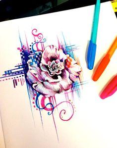 Rose Pen Design by Lucky978.deviantart.com on @deviantART