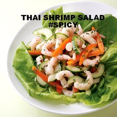 Thai Shrimp Salad #spicy #recipe