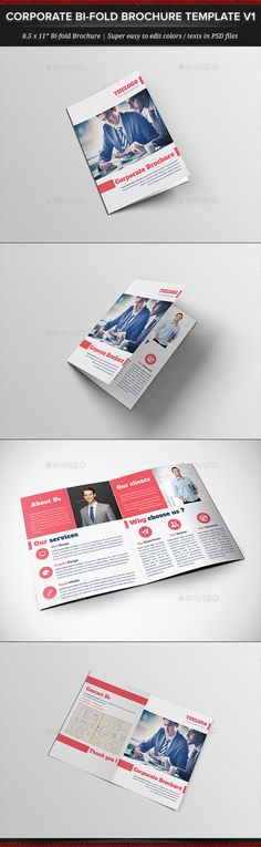 Corporate Business Bi-fold Brochure Template V1 - Corporate Brochure Template PSD. Download here: http://graphicriver.net/item/corporate-business-bifold-brochure-template-v1/11950894?s_rank=1734&ref=yinkira