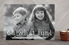 Oh What Fun Christmas Photo Cards by Abby Munn at minted.com