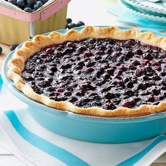 Contest-Winning Fresh Blueberry Pie Recipe -I've been making this dessert for decades since blueberries are readily available in Michigan. Nothing says summer like a piece of fresh blueberry pie! —Linda Kernan, Mason, Michigan