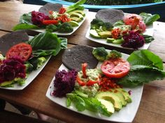 """Personal Pizzas from """"Food to Live For!"""" by Eric Rivkin, available for purchase at www.vivalaraw.org #lowfatrawvegan #recipes #vegan #rawfood"""