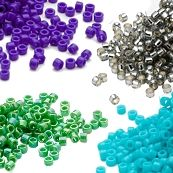Delica Seed Beads by NumberThese seed beads from Miyuki of Japan are well-loved for their consistent size and shape.According to seed bead sizes, the smaller the number the larger the bead.Miyuki seed beads size 11/0 are physically smaller than seed beads with a size of 8/0.